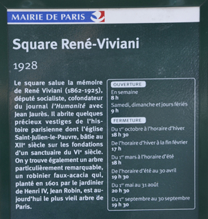 Square Viviani Paris